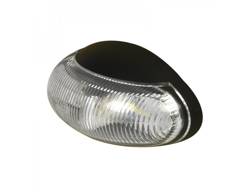 Markeringslamp 10-30V wit 60x34mm LED